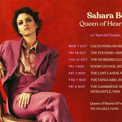 SAHARA BECK ANNOUNCES QUEEN OF HEARTS EP & NATIONAL TOUR DATES