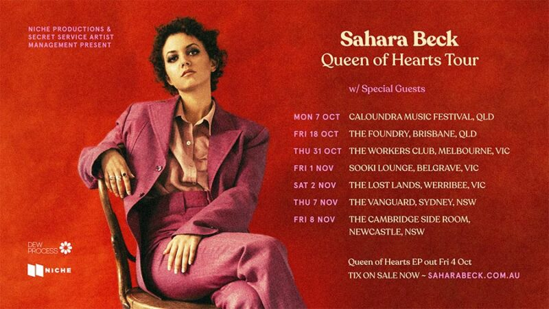 SAHARA BECK ANNOUNCES QUEEN OF HEARTS EP & NATIONAL TOUR DATES