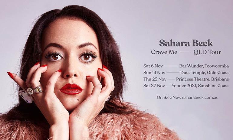 Sahara Beck Crave Me Tour 2021